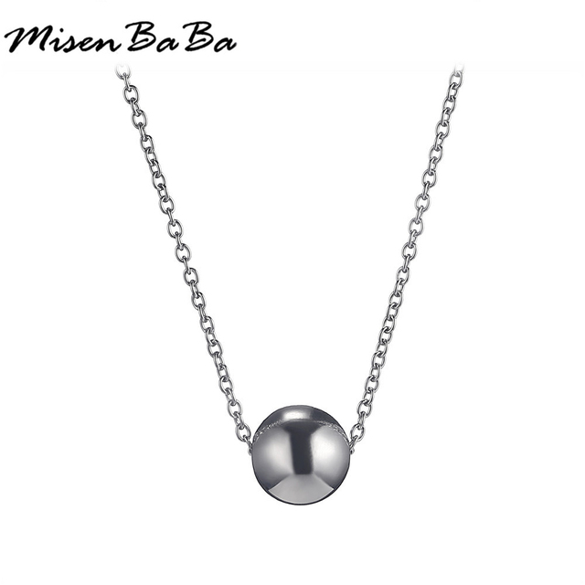 12pcslot smooth stainless steel triangular ball pendant necklace 12pcslot smooth stainless steel triangular ball pendant necklace silver color thin necklace for woman aloadofball Images