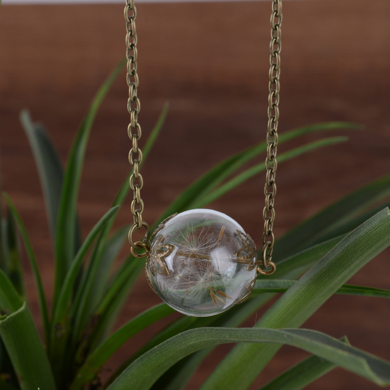Glass ball Vial Necklaces