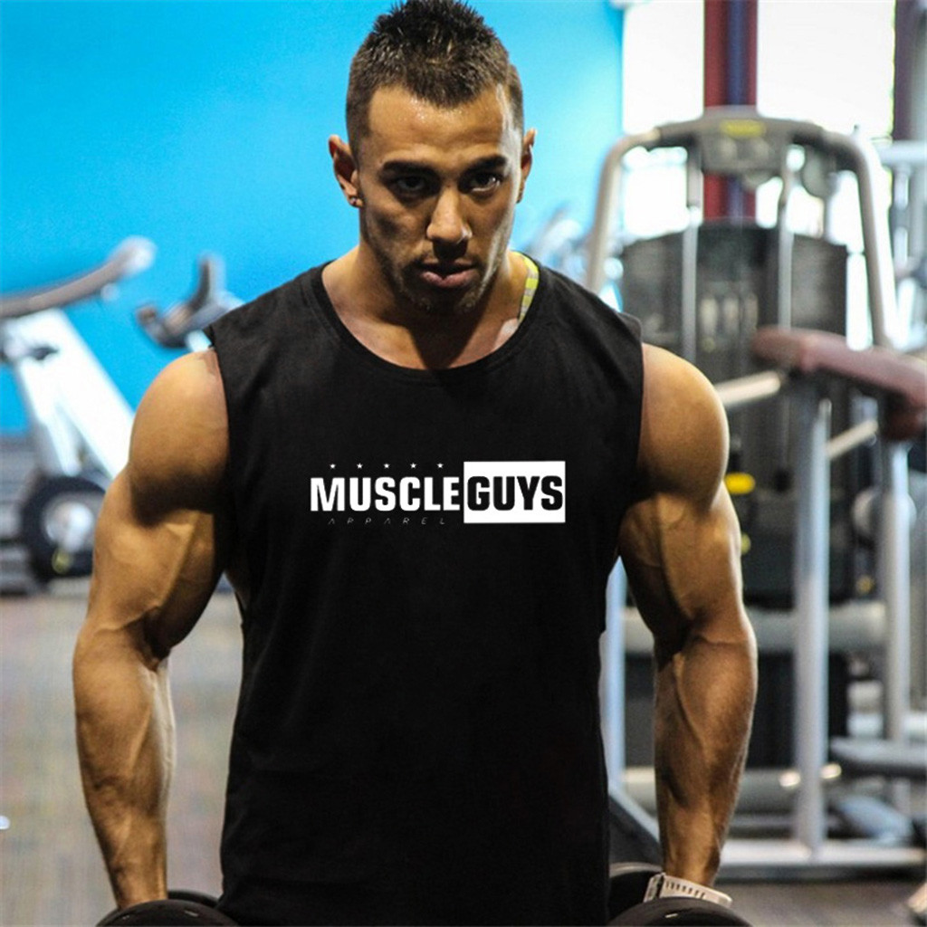 Fitness Men   Tank     Top   Bodybuilding Stringers   Tank     Tops   Singlet Brand gyms Clothing Sleeveless Shirt Vest Muscle   Tops   Gyms   Tops