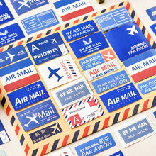45pcs/box Creative airmail decoration stickers DIY Stickers Diary Decoration Scrapbooking seal Sticker Stationery