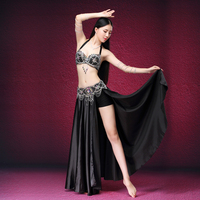 Stage Dance Wear 2017 Belly Dancing Clothes Oriental Dance Outfits Sexy Lace Belly Dance Beaded Costume