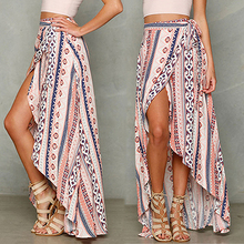 New Arrival Women's Summer Fashion Casual Long Skirt Sexy Irregular Hem Chiffon Skirt