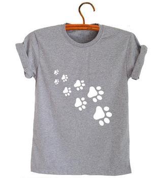 Cat Paws Print Women T-shirt