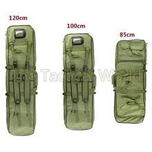 Открытый военный охотничий рюкзак 85 100 120 см, тактический страйкбол, нейлон, квадратный, для переноски, двойной карабин, винтовка, сумка, пистолет, 120 см, мягкий чехол