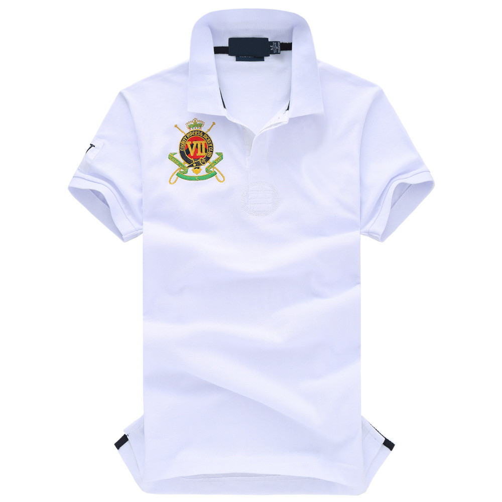2019 New Brand polo shirt Men High quality Short Sleeve Tops England Style male business casual Plus size Male Cotton Polo shirt