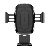 Baseus 10W Fast QI Wireless Charger Gravity Car Mount Air Vent Hloder For IPhone X 8