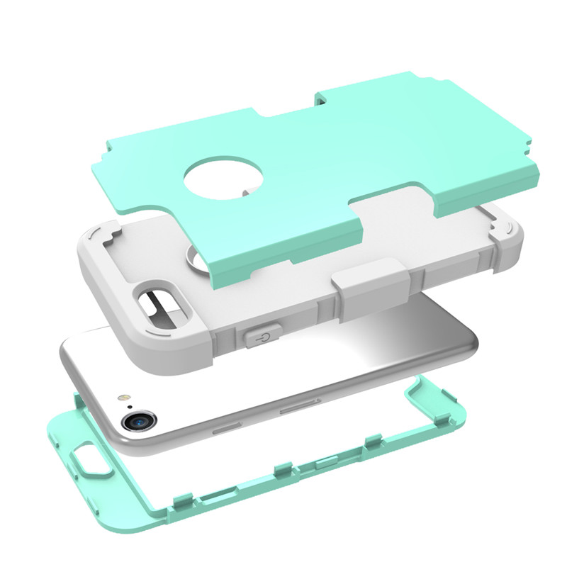For iPhone7 Case Heavy Duty Hybrid Shockproof Armor Rugged Case For iPhone7Plus Cover Hard PC + Soft Rubber Silicone Phone Cases (21)