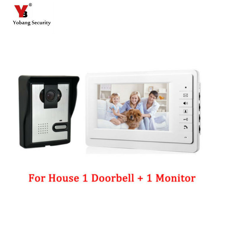 цена на Yobang Security 7 Video Doorbell Phone Intercom Doorbell Night Vision Rainproof Security Camera Pinhole Video Intercom doorbell