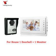 Yobang Security 7″ Video Door Phone Intercom Doorbell Night Vision Rainproof Security Camera Pinhole camera vision interphone