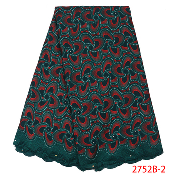 Nigerian 100% Cotton Dry Lace African Swiss Voile Lace Fabrics High Quality Voile Lace in Switzerland for Men Dresses APW2752B