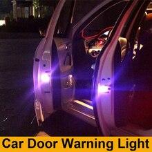 2x LEVOU Porta do Carro luz de Aviso de segurança Luz do Flash Para Hyundai accent solaris i20 i30 ix35 elantra santa fe tucson getz