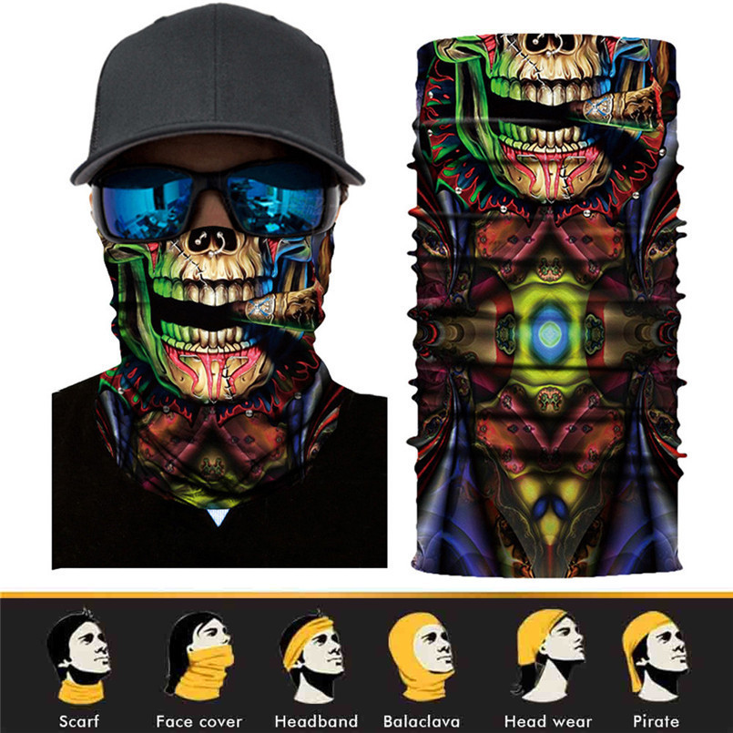 Skull Face Mask Scarf Ski Mask Ghost Balaclava Masks Cycling Head Scarf Neck Halloween Party Face Mask Wholesale 30ST02 (13)