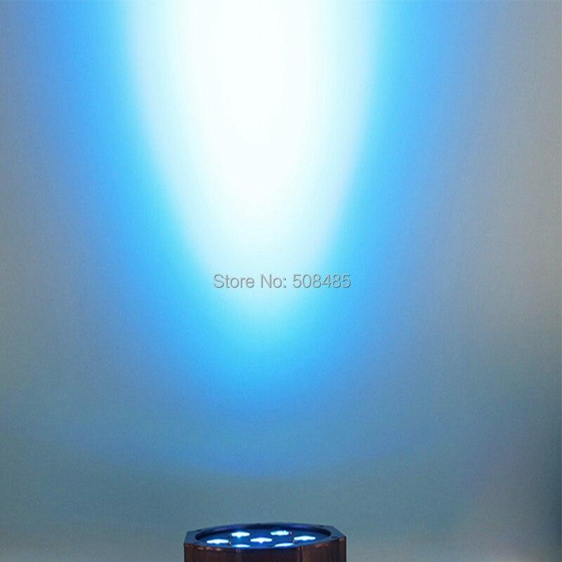 6PCS Wireless remote control 2017 7x9W RGB DMX Led Flat Par High Power Light with Professional for Party KTV Disco DJ keyshare dual bulb night vision led light kit for remote control drones