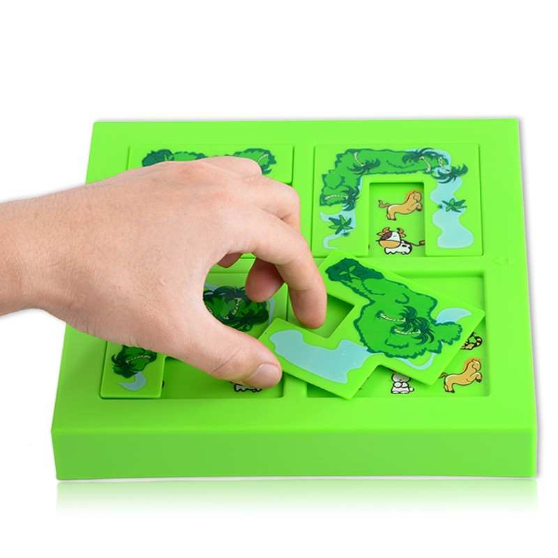 Quality New Kids Animal Maze Puzzle IQ Mind Logic Brain Teaser Puzzles Game Toys for Children 72 Questions 10