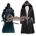 Assassin's Creed Синдиката Джейкоб Фрай Косплей Costum Куртка Наряд Искусственной Кожи Взрослых мужская Хэллоуин Костюм На Заказ