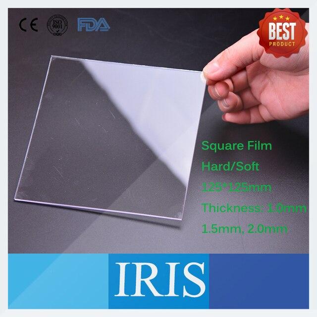 Dental Labor Material 125*125mm Prothese Harten Film Vakuum Bilden Druck Blätter Platz Schönheit Weiß