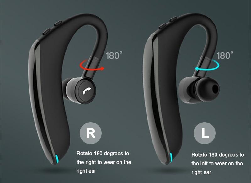 Lesiri Business Bluetooth Headset F900 Wireless Earphone Car Bluetooth V5.0 Phone Handsfree MIC Music for iPhone Xiaomi Samsung (6)