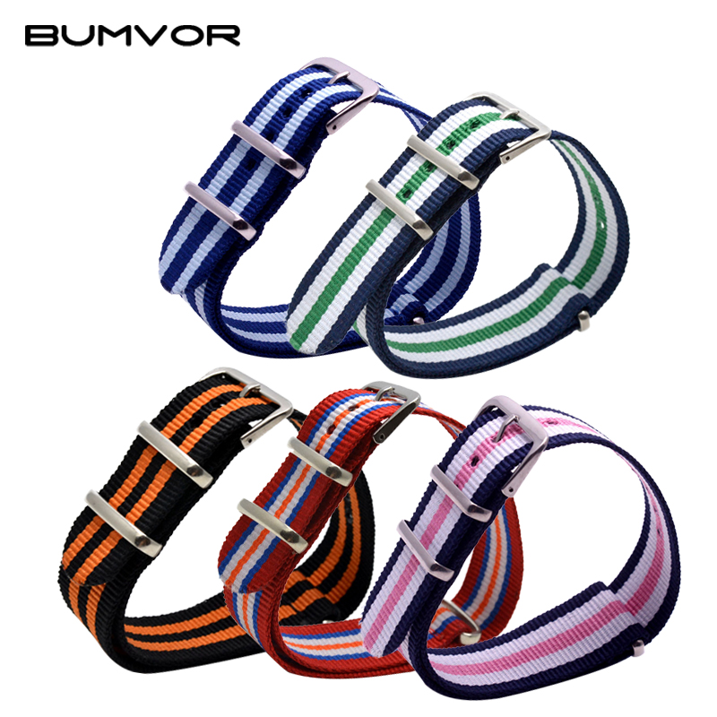 2019 18mm #59-125 Men Wemen Watch Bands Strap Fabric Nylon Nato Army Sports Top Quality Buckle Colorful Available Watchband
