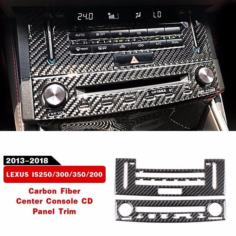 New Carbon Fiber Center Console CD Panel Trim For LEXUS IS250/300/350/200  2014-2018 Interior Accessories