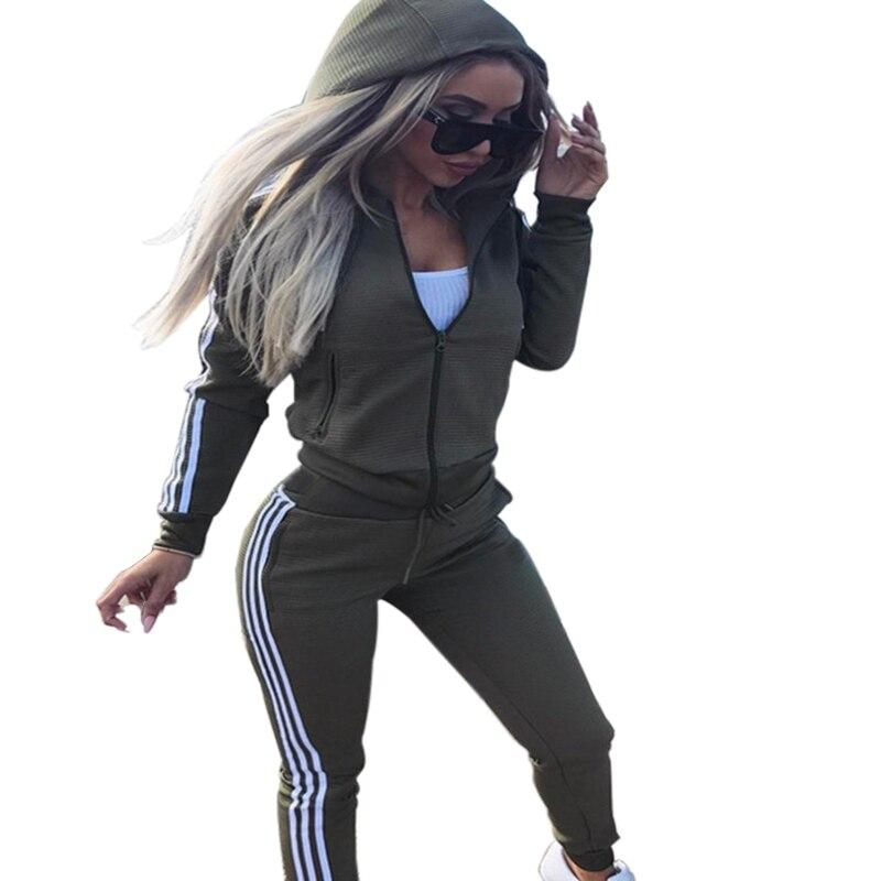 pantalones Mejor Conjunto de ropa casual para mujer con capucha de manga larga