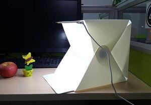 Image 5 - Cadisoポータブル折りたたみストリップボックスミニledスタジオフォトボックスソフトボックスled写真スタジオテントキット