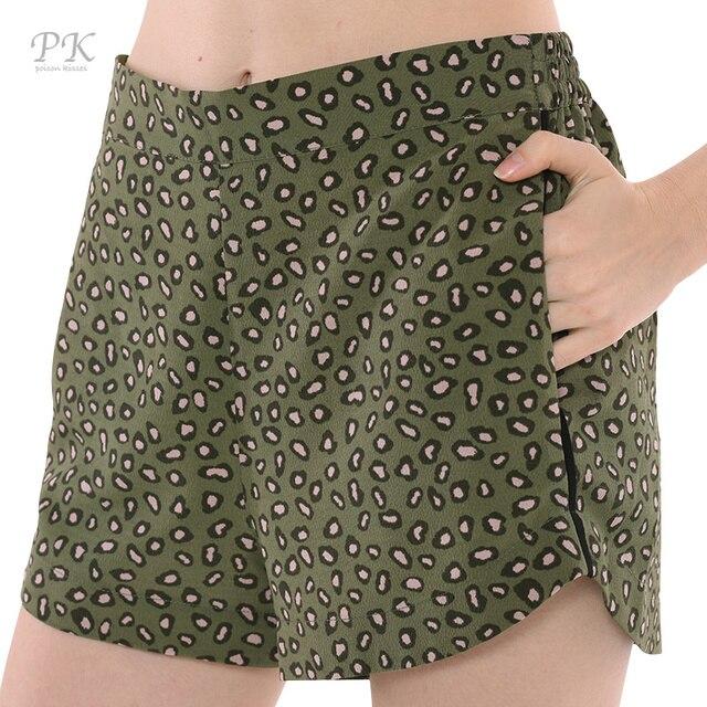 acheter pk vert l opard shorts femmes. Black Bedroom Furniture Sets. Home Design Ideas