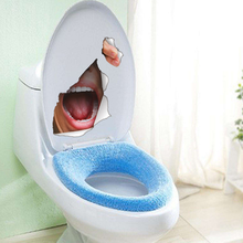 New hot Funny Mouth Toilet Stickers Pastes Wallpaper Mural Waterproof Removable BathroomToilet Sticker PaperPaste Frescos(China)