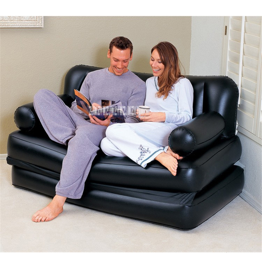 Terrific Multifunctional Inflatable Sofa 2 People Portable Inflatable Sofa Bed Home Adult Folding Lazy Sofa With Household Electric Pump Machost Co Dining Chair Design Ideas Machostcouk