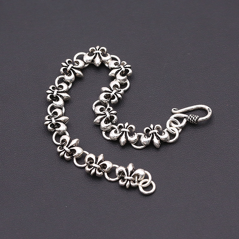 Starfield S925 Sterling Silver Jewelry Punk Popular Men Silver Thai Silver Anchor Chain Bracelet&Bracelet Homme