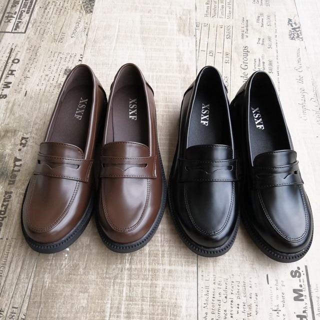 Japanese Black Brown School Shoes