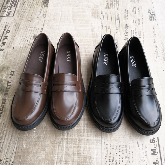 Uniform Shoes Uwabaki Japanese JK Round Toe Women Girls School Students Lolita Black Brown Cosplay Shoes Rubber Sole Z01