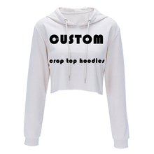Drop shipping Custom made 3D Printed Crop Top Hoodies,Sweatshirts for Women harajuku Thin Pullover Sweatshirt Girls