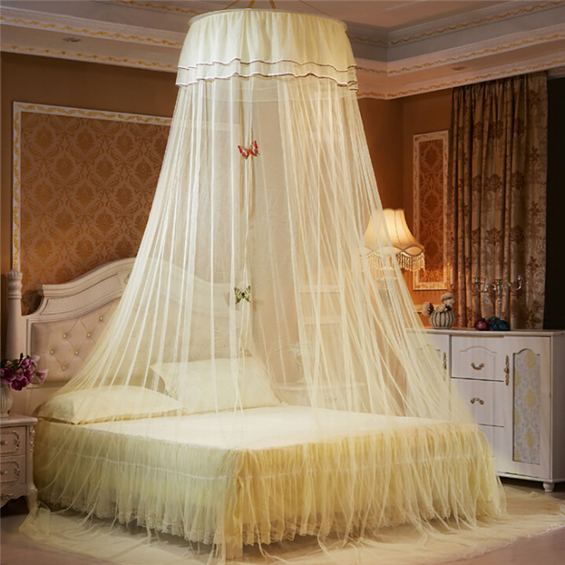 Princess mosquito net luxury butterfly printed bed canopy - Bed canopies for adults ...