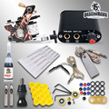 Beginner Complete Tattoo Kit Machine Guns Inks Needles Tattoo Power Supply  MGT-18GD-3