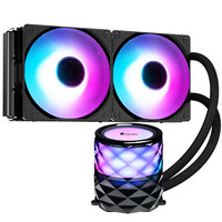 JONSBO PWM One Piece PC Water Cooling Radiator 240+Pump Kit Water Cooled Fan 120mm Colorful CPU Block Symphony Crystal TW3 240