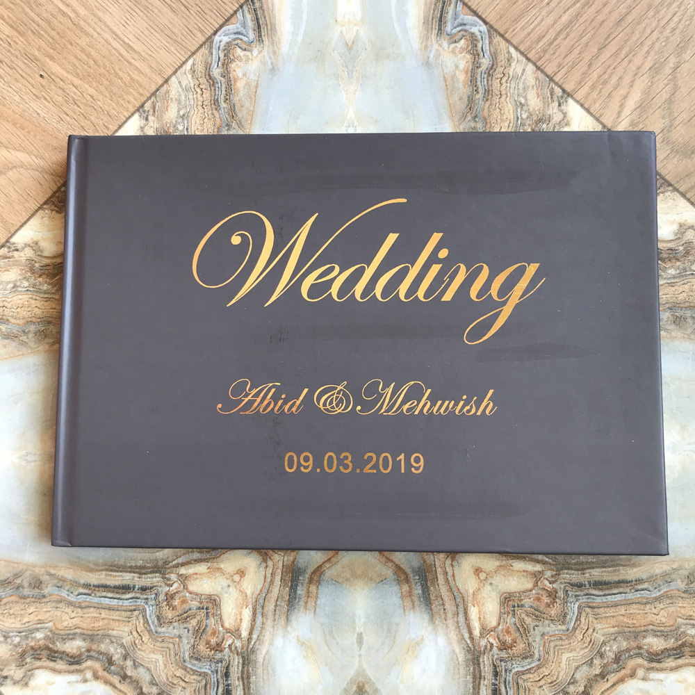 How to Store Your Wedding Celebration Guest Books on the Reception Table Pribadi-Pengantin-Pernikahan-A5-Ukuran-Buku-Tamu-Alternatif-Kustom-Pedesaan-Buku-pasangan-Wedding-Guest-Book-Ideas