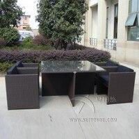 5 шт. открытый патио мебель стул комплект Алюминий каркас обеденный стул набор транспорт по морю
