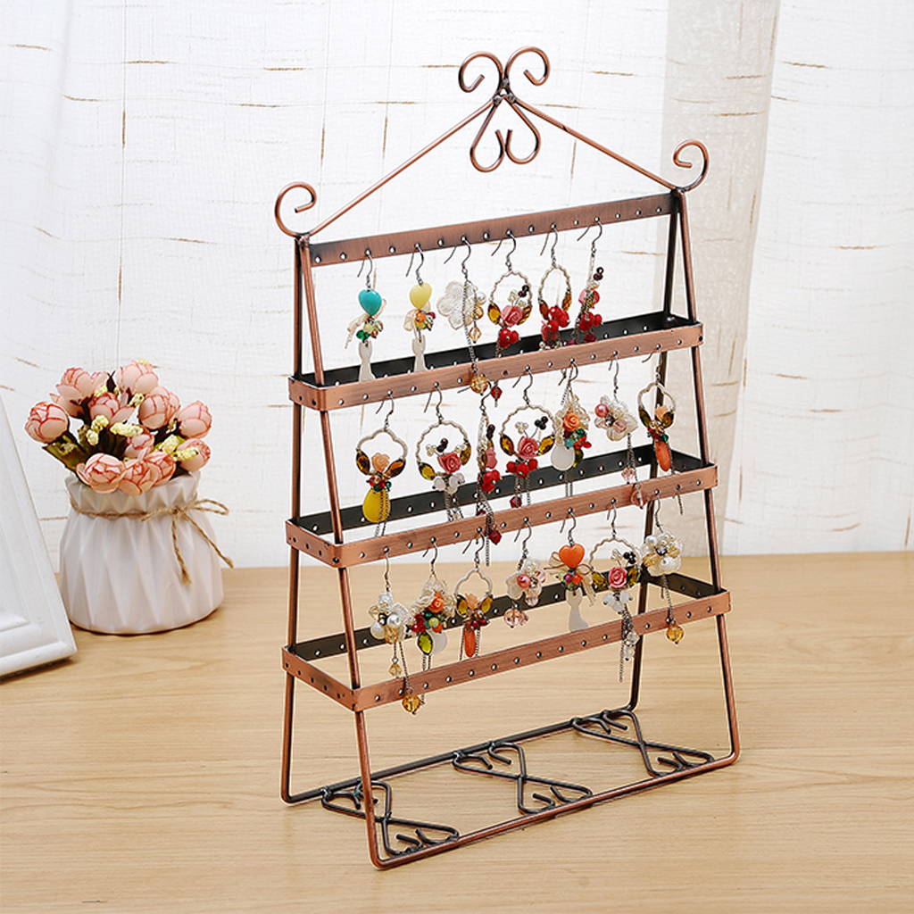 Retail Shop Earrings Jewelry Display Large Stand Holder Organizer Copper