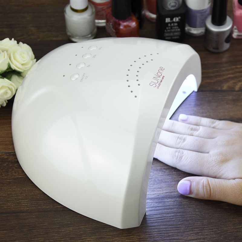 YingJia 48 W SUNONE profesional LED de la lámpara UV de uñas secador de uñas luz UV lámpara nave de Estonia almacén