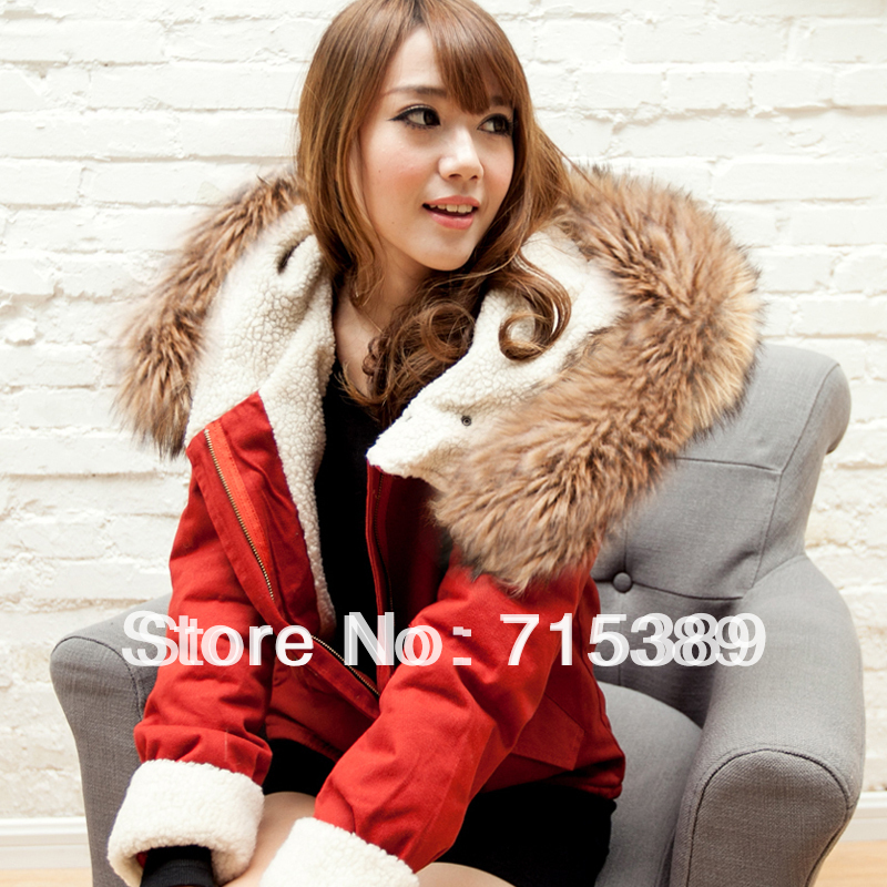 winter fashion jacket womens coats with fur collar outerwear with a hood winter  coats for teenage girls FREE SHIPPING-in Parkas from Women s Clothing on ... aea1b64418