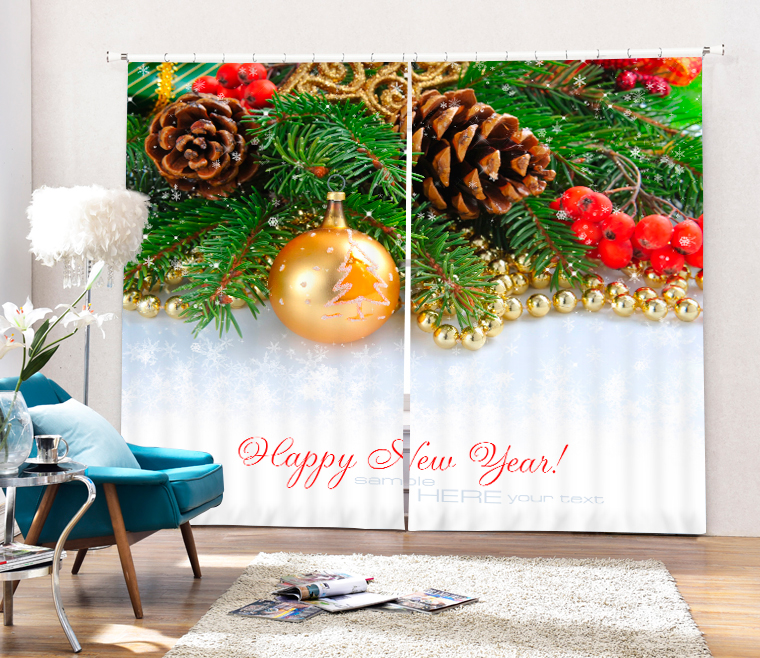 presents for Christmas 3d Digital Printing Stereo Cutoff Curtains High Precision Black Silk Door curtain