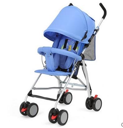 Sanle aleación de aluminio del cochecito plegable portátil ultraligero amortiguadores del coche paraguas niño sencillo carro de bebé