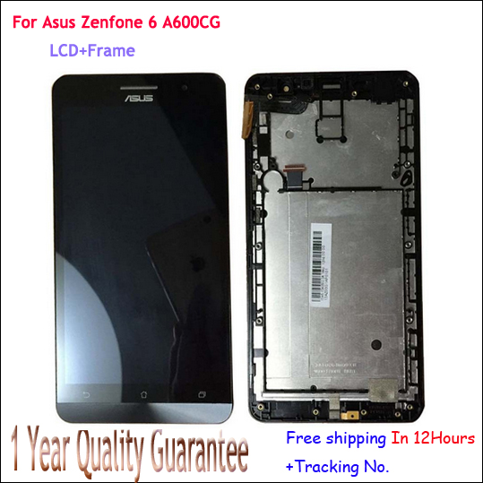 ФОТО Original For Asus Zenfone 6 LCD Display Panel Touch Screen Digitizer Glass+Bezel Frame Assembly  for ZenFone6,T00G,A601CG +Track