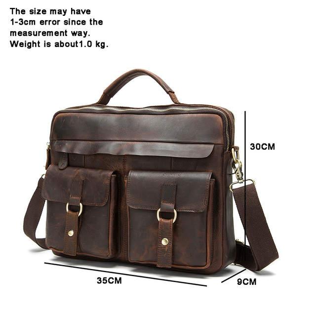 c05f24dc73 Brand Genuine Leather men s bag Crossbody Bags Casual Totes Men Briefcases  Laptop handbags messenger men shoulder