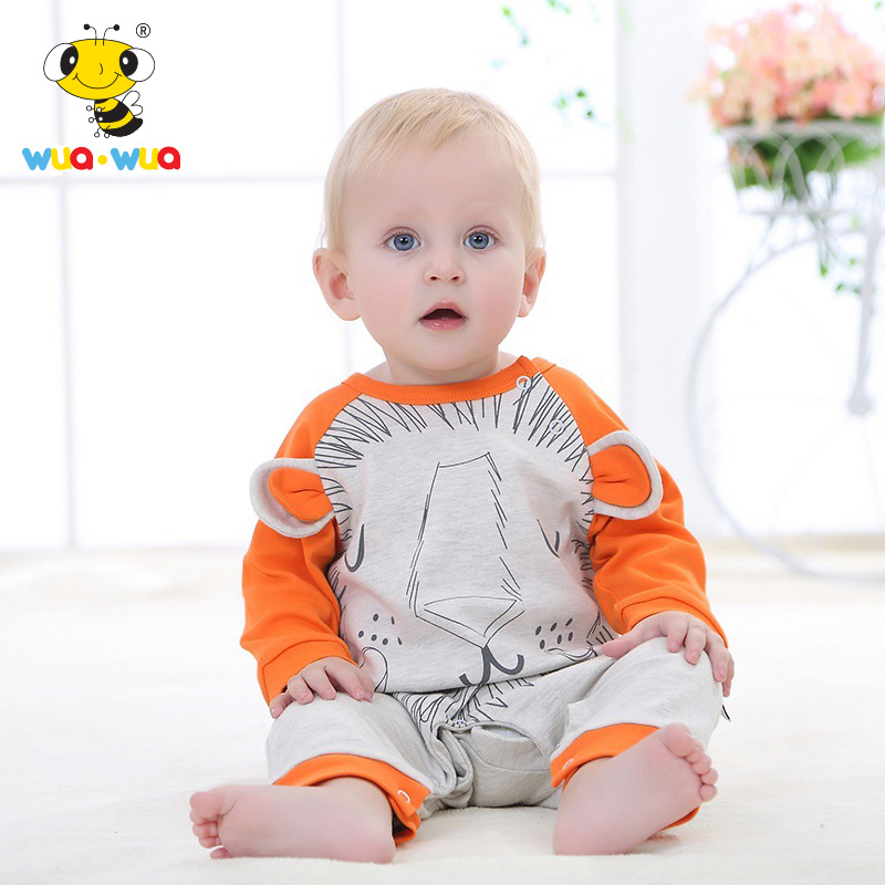 newborn kid baby boy infant rompers girl jumpsuit infant clothes cartoon Onesie Novelty Outfit Lion Rompers Long Sleeve Romper newborn infant baby girl clothes strap lace floral romper jumpsuit outfit summer cotton backless one pieces outfit baby onesie