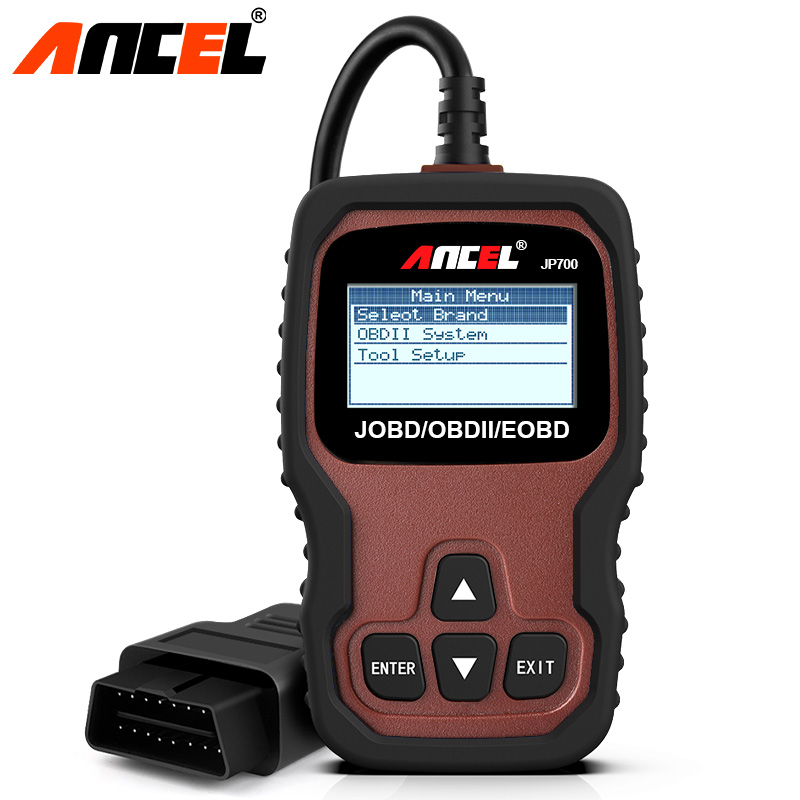 Ancel JP700 OBD OBD2 JOBD Automotive Scanner Car Code Reader Auto Scanner OBD 2 Diagnostic Scanner for Japanese Car Scan Tool one set portable car truck diagnostic scanner tool auto obd 2 kw807 fault code reader scanners with cd