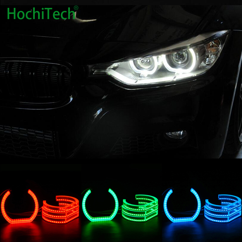 RGB Crystal Multi-Color DTM Style LED Angel Eyes Halo Rings Light kits for BMW 1995-2000 E39 5 series pre-facelift Car styling s c cotton brand backpack men good quality genuine leather