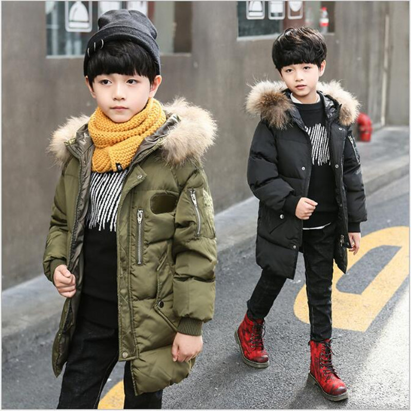 South Korean version of the big boy's overcoat of overcoat, the new boy's cotton jacket of the 2018 winter. AN77 women winter coat leisure big yards hooded fur collar jacket thick warm cotton parkas new style female students overcoat ok238