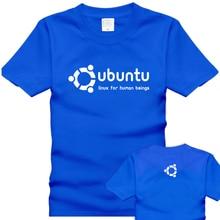 Free shipping t shirts 2016 100 cotton short sleeve T shirt ubuntu men s clothing The