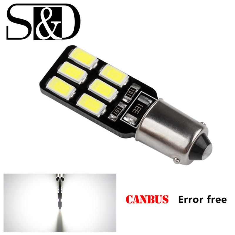 BA9S 12 SMD 5630 LED Canbus lamps Error Free t4w h6w Car LED bulbs interior Lights Car Light Source parking 12V White 6000K D020